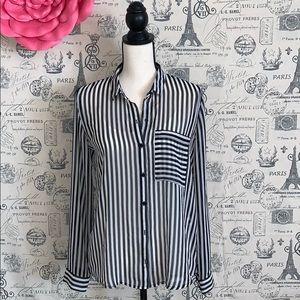 Zara Shirt, striped long sleeves